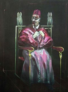 Francis Bacon - 1958, Pope with Owls