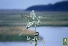 "Blue Heron Garden Weathervane in Blue Verde  Enter "" checkoutnow "" at the checkout for 10% Off!"