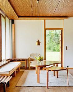 Maison Louis Carré / Alvar Aalto - Fragments of architecture Alvar Aalto, Interior Architecture, Interior And Exterior, Chinese Architecture, Futuristic Architecture, Design Moderne, Furniture Arrangement, Home Fashion, Interiores Design