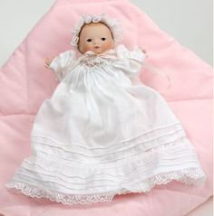 Tiny Bye Lo Baby - porcelain limited edition collectible doll by Wendy Lawton