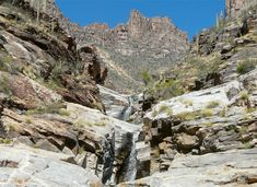 Hike to seven falls in Tucson, Arizona.
