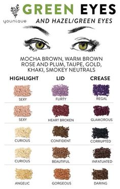 Dress up your green eyes with Younique's Mineral Pigment Powders!
