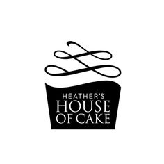 Heathers House of Cake Logo Design Bakery Identity, Cake Branding, Bakery Logo, Logo Branding, Bakery Packaging, Chef Logo, Cake Logo Design, Pin Logo, Freelance Graphic Design