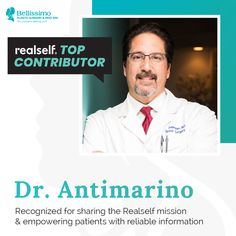 We are so excited to announce that Dr. Antimarino was recognized as a RealSelf top contributor! Board Certified Plastic Surgeons, Cosmetic Procedures, Surgery, Clinic, Top