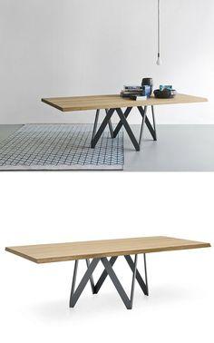 Rectangular #wood veneer #table CARTESIO by Calligaris   #esign Busetti Garuti Redaelli @calligaris1923