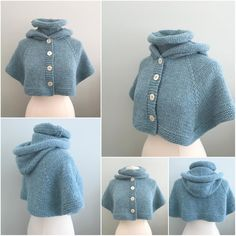 Wynter Chill Knitting Pattern, Sweater, Cape, Poncho, Hooded Cape – Awesome Knitting Ideas and Newest Knitting Models Bonnet Crochet, Gilet Crochet, Knitted Poncho, Knit Crochet, Crochet Cape, Hooded Cape Pattern, Knitted Cape Pattern, Capelet Knitting Pattern, Easy Sweater Knitting Patterns