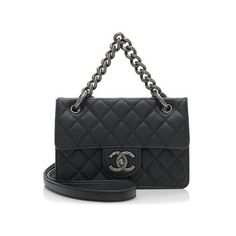 Rental Chanel Caviar Leather Retro Class Small Flap Bag (12,480 THB) ❤ liked on Polyvore featuring bags, handbags, black, genuine leather purse, chanel, antique leather purse, antique purses and real leather handbags