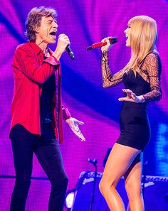 "Taylor Swift, Mick Jagger Sing ""As Tears Go By"" at Rolling Stones Show - Us Weekly"