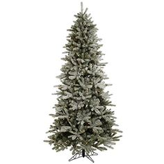 85 ft Artificial Christmas Tree  High Definition PEPVC Needles  Frosted Frasier Fir  Prelit with MultiColor LED Bulbs  Vickerman A101082LED *** For more information, visit image link.