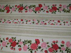 """Coupon de tissu en coton """"ANAIS"""" boutons de roses 1.00m x 1.60m : Tissus Ameublement par tafy57"""