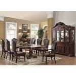 Acme Furniture - Judith 10 Piece Dining Table Set in Cherry - 60370-10SET