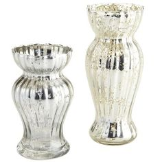 "Mercury Glass Vases; the tall one 7"" high is available on Fry road! $5.48"