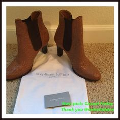 Stephane Kelian camel colored boots HP  Beautiful Stephane Kelian high heeled boots. Bought in Europe and not sold in US (I do not think). Worn once or twice but were too tight (as can be seen by soles). Stunning. sold as 40 but it is a 9.5 US. I am always open to reasonable offers. Stephane Kelian Shoes Ankle Boots & Booties