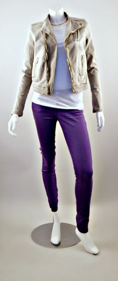 J Brand Moto Zip Jacket and J Brand Super Skinny Jeans