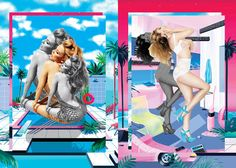 """Chandelier Creative Graphic Designers Mat Maitland and Hattie Stewartmaking Kylie Minogue's tour """"Kiss Me Once"""". Animation designer Paul Plowman, Reilly, Yoko Pium and Andrea Mary Marshall"""
