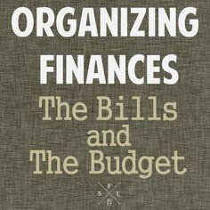 Idée d'organisation des finances ...