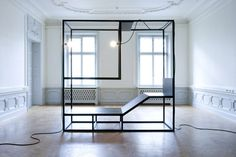 Mobile by Christan Halleröd and Johannes Svartholm Table Furniture, Cool Furniture, Furniture Sets, Furniture Design, Cool Office Space, Space Frame, House Siding, Modular Design, Office Interiors