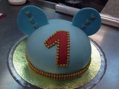 Cake chocolate for Mickey mouse birthday party