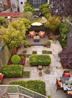 If you're living in an apartment or in the city, you might have a hard time getting a proper backyard for your garden. That's why urban gardening has become quite popular. Try these urban gardening ideas for the best results. Balcony Planters - You. Backyard Layout, Backyard Garden Design, Small Garden Design, Patio Design, No Grass Backyard, Small Backyard Landscaping, Landscaping Ideas, Backyard Privacy, Backyard Pavers
