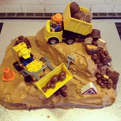 Easy Toddler Food - Construction Cake