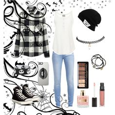 Halloween party by mmon108750 on Polyvore featuring polyvore fashion style Sea, New York Uniqlo TOM TAILOR Converse Feather & Stone Wet Seal Vans Lipsy