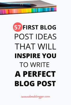 57 First Blog Post Ideas For New Bloggers: I know how difficult it is for you to decide what to write in your very first blog post. That's why I recommend you to start from this list of first blog post ideas. Quit banging your head and read this 16,000-word post! via @michaelpozdnev