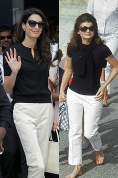 The Off-Duty Uniform: Classic looks form Jackie and Amal