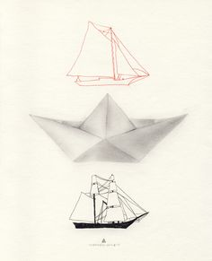 """""""these are boats"""" by olivia charmaine perfect for a teen's room. #drawing #boats"""