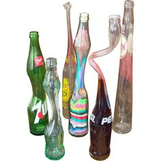 These stretched pop bottles could be won at fairs way back in the day.