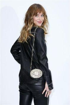 Dakota Johnson attends the Chanel fashion