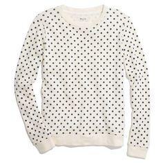 Sweatshirt in Domino Dot