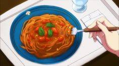 A plate of tomato and basil pasta!Uta no Prince sama, Episode 7