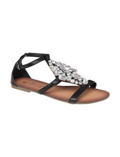 Black embellished sandals (also available in silver), Peacocks, £16
