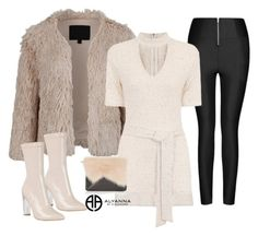 """""""NUDE x BLACK"""" by alexannaloro on Polyvore featuring Ally Fashion, Topshop and ALYANNACLOTHING"""