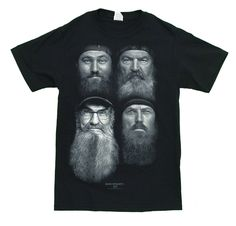 Duck Dynasty Four Faces MensT-Shirt