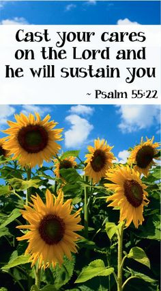 Psalm (version): Cast your cares on the Lord and He will sustain you. Word Of Faith, Word Of God, Bible Scriptures, Bible Quotes, Psalm 55 22, Cast Your Cares, Favorite Bible Verses, Spiritual Inspiration, Christian Inspiration
