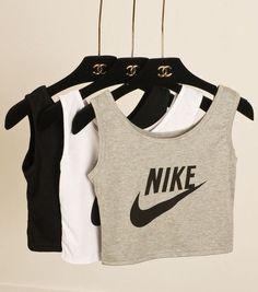 2f1ae4395ba9c Womens Sport Tick Crop Top Tshirt Nike Dope Festival Black Stereosonic  Tumblr S