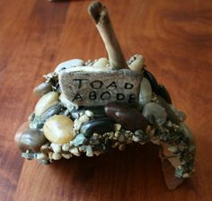 Small Toad/Frog House with Native Rocks and Twigs for the Garden. Frog House, Toad House, Garden Art, Garden Ideas, Knockout Roses, Miniture Things, Elves, Homework, Fairies