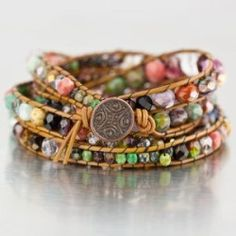 DIY your photo charms, compatible with Pandora bracelets. Make your gifts special. Make your life special! DIY Chan Luu Style Bohemian Wrap Bracelet Eureka Crystal Beads Czech Glass - very good tutorial Boho Jewelry, Jewelry Crafts, Beaded Jewelry, Jewelery, Jewelry Bracelets, Jewelry Accessories, Handmade Jewelry, Jewelry Design, Fashion Accessories