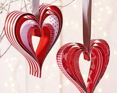 Des suspensions de Noël en forme de Coeur