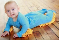 The Baby Mop Let's Your Baby Do The Mopping --- from InventorSpot.com --- for the coolest new products and wackiest inventions.