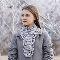 The Elegant Rose Scarf, long version, is designed by Valerie of Valerie Baber Designs just for you to warm your day with elegance and style. Other styles are available to match on my other patterns. Made with worsted weight merino wool by Sweetgeorgia Yarns, but you can use most yarns of this weight.