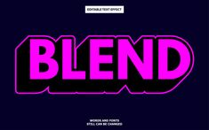 Blend editable text effect Premium Vecto. Vector Technology, Typography Alphabet, Initials Logo, Text Effects, Texts, Illustrator, Logos, Logo, Text Messages