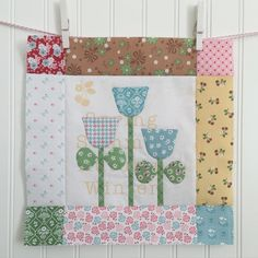 BLOOM Sew Along! 12-by Lori Holt Lori uses BLOOM set from her Sew Simple Shapes  and fabric prints from Calico Days from Riley Blake Designs to help create the appliqué blocks.