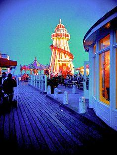 Bournemouth pier at night.
