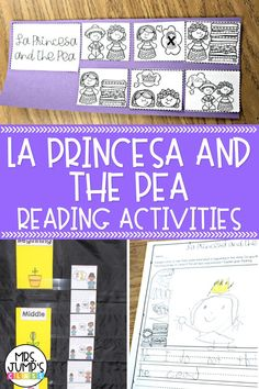 """If you are using """"La Princesa and the Pea"""" as a read aloud in your elementary classroom, these activities could be a great addition to your reading comprehension plans. Kindergarten through second grade students can complete these """"La Princesa and the Pea"""" activities to show their understanding of the book."""