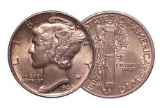 1940 U.S. Mercury Dime - About Uncirculated condition silver coin