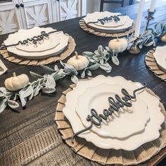 Thanksgiving Decor  Table Setting  Farmhouse Decor  | Etsy