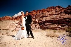 Las Vegas wedding in July 2009. Taken at Red Rocks canyon.
