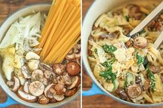 Garlic Parmesan Pasta 16 Quick And Easy One-Pot Pastas Your Whole Family Will Love Pasta Recipes, Chicken Recipes, Dinner Recipes, Dinner Ideas, Pasta Meals, Cooking Pasta, Seafood Pasta, Soup Recipes, Slow Cooker Recipes